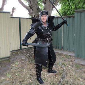 Real Leather Women Gladiator Armour Complete Set LARP SCA-LPAF-013