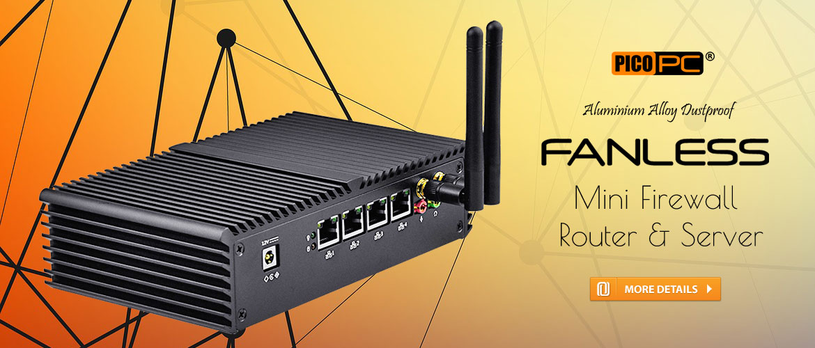 Intel� 3215U 4 LAN 1 COM HD WiFi 4G Fanless Firewall Router