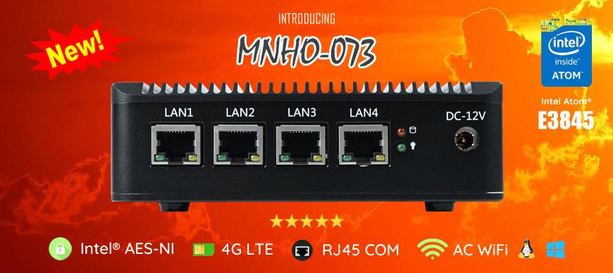 Intel Atom� E3845 4 LAN 1 COM 4G HD Fanless Firewall Router MNHO-073