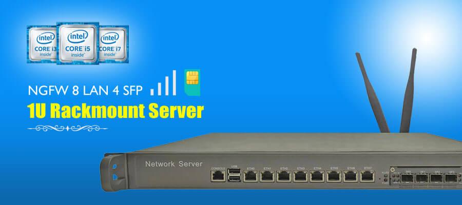 NextGeneration Firewall NGFW 8 LAN SFP 1U Rackmount Server NSHO-001