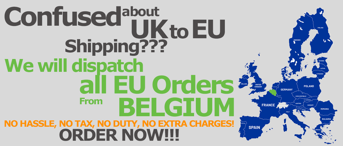 EU orders from EU, NO HASSLE, NO TAX, NO DUTY, NO EXTRA CHARGES!