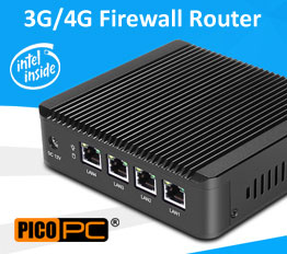 Intel J1900 4 LAN 3G WiFi Firewall Router Fanless Mini PC | MNHO-043