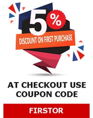 5% Discount on First Purchase, use coupon code FIRSTOR at checkout