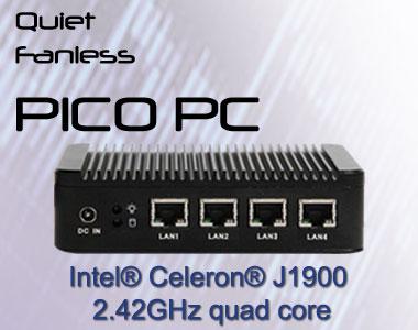 Intel J1900 4 LAN NICs Firewall Router WiFi Fanless Mini PC