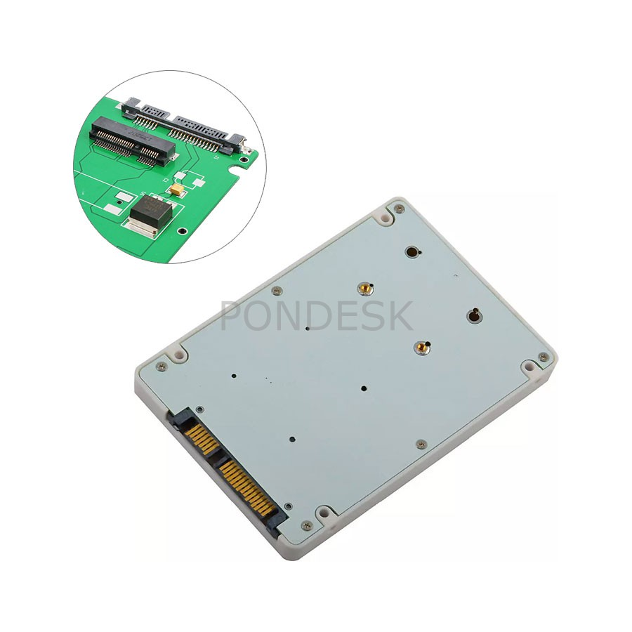 "mSATA to 2.5"" SATA SSD Enclosure Adapter 7mm Case"