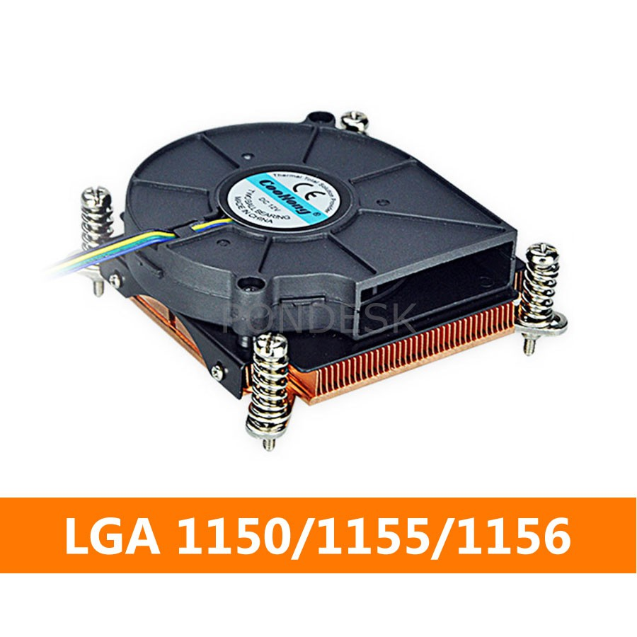 LGA1150/1155/1156 Copper Fin CPU Cooler 1U Server Heatsink