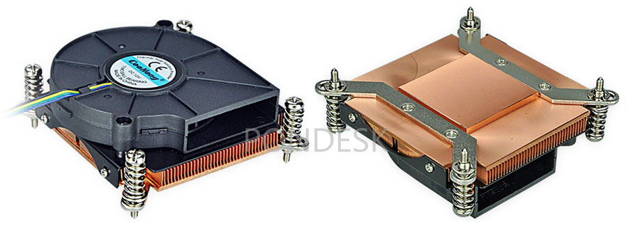 LGA1150/1155/1156 Copper Fin CPU Cooler 1U Server Heatsink - CFHO-004 | Image