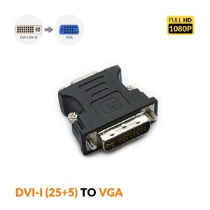 DVI-I (24+5) Male to VGA HD15 Female Adapter 1080P-DSEL-009
