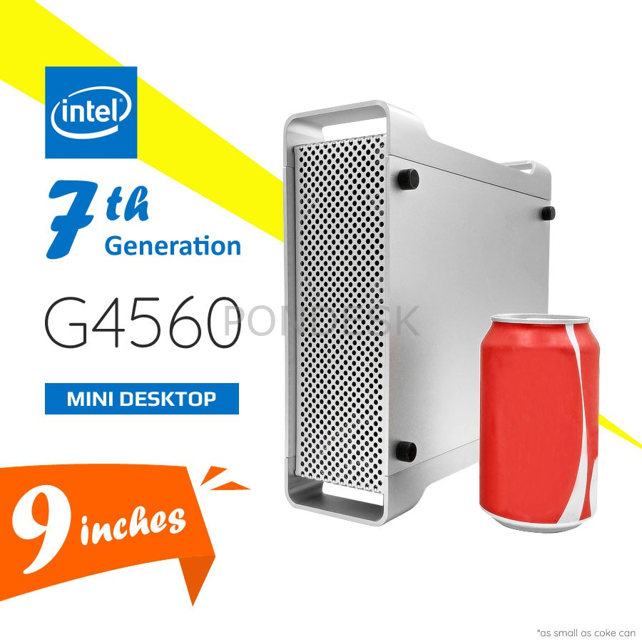 7th Gen. Intel® G4560 Kaby Lake 3.5GHz HD 610 Mini Desktop