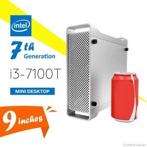 7th Gen Intel® i3-7100T Kaby Lake 3.4GHz HD 630 Mini Desktop-DTHO-005