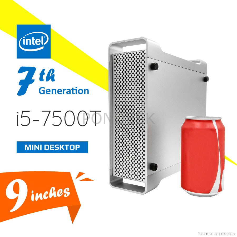 7th Gen Intel® i5-7500T Kaby Lake 3.3GHz HD 630 Mini Desktop