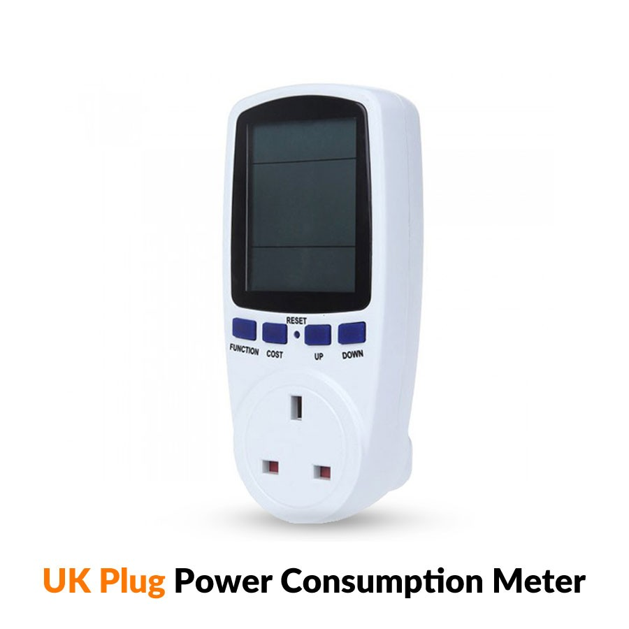 13A UK Plug Electricity Power Consumption Meter Socket