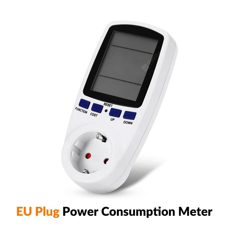 13A EU Plug Electricity Power Consumption Meter Socket