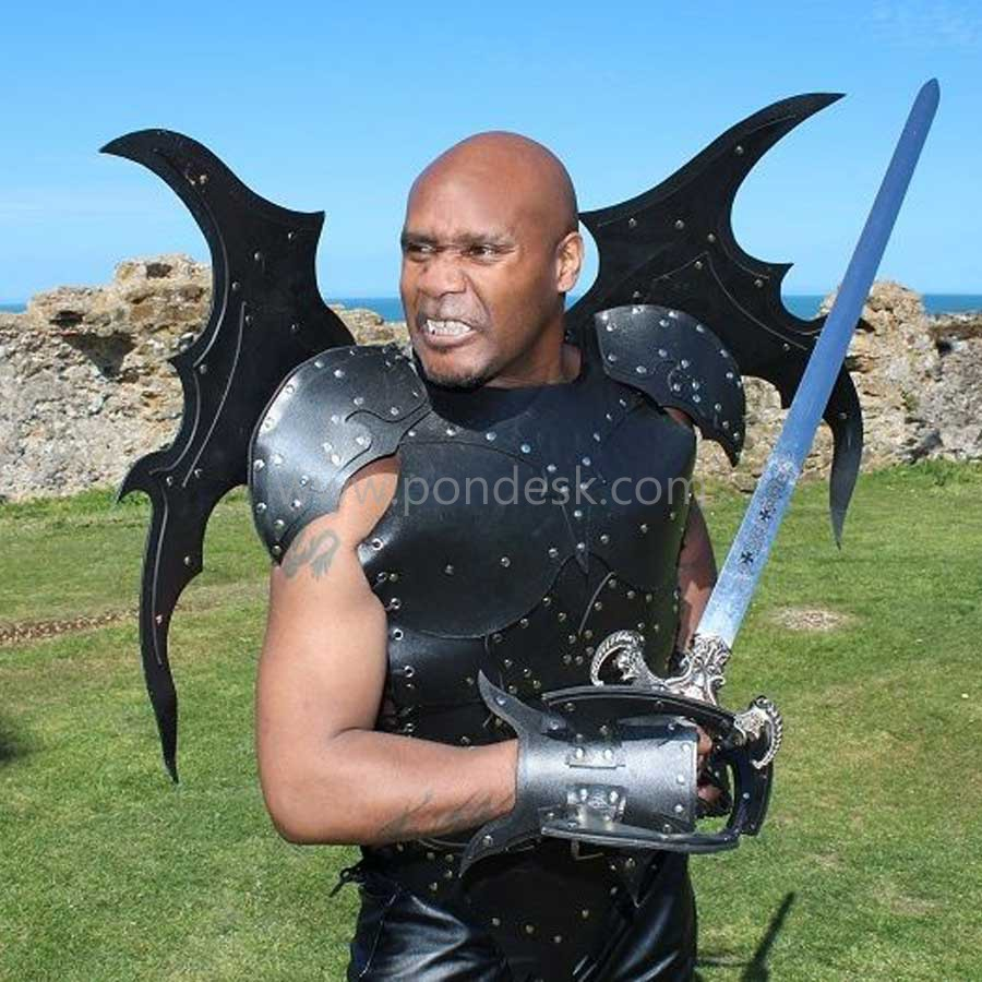 Real leather medieval re-enactment theatrical Armor LARP