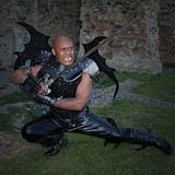 Real leather medieval re-enactment theatrical Armor LARP-LPAF-002