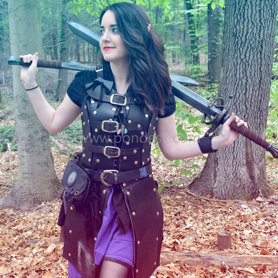 Real Leather Robin Hood Ladies SCA Medieval Armour LARP
