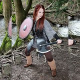 Real Leather Robin Hood Ladies SCA Medieval Armour LARP-LPAF-003