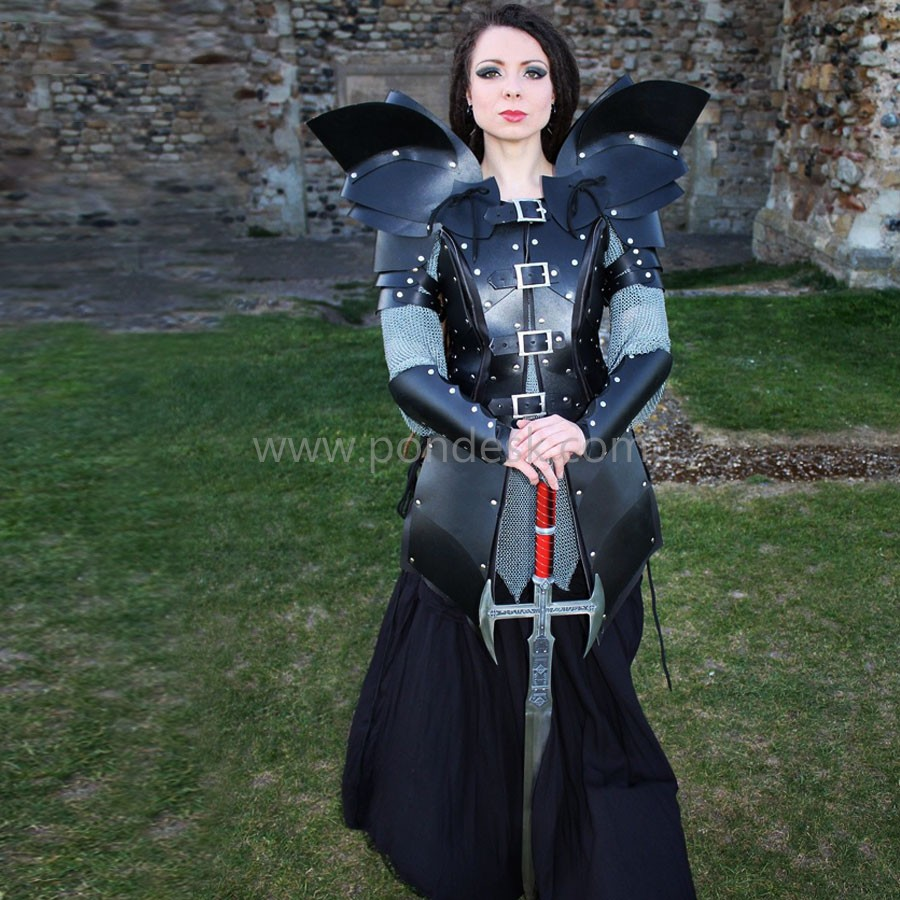 Real Leather Women Gladiator Medieval Celtic Armour LARP SCA