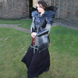 Real Leather Women Gladiator Medieval Celtic Armour LARP SCA-LPAF-005