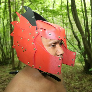 Real Leather Punk Helmet Medieval Armor Cosplay Larp SCA-LPAF-019