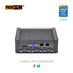 Intel® J1900 HD WiFi 4 COM 2 LAN Fanless Industrial Mini PC-MNHO-034