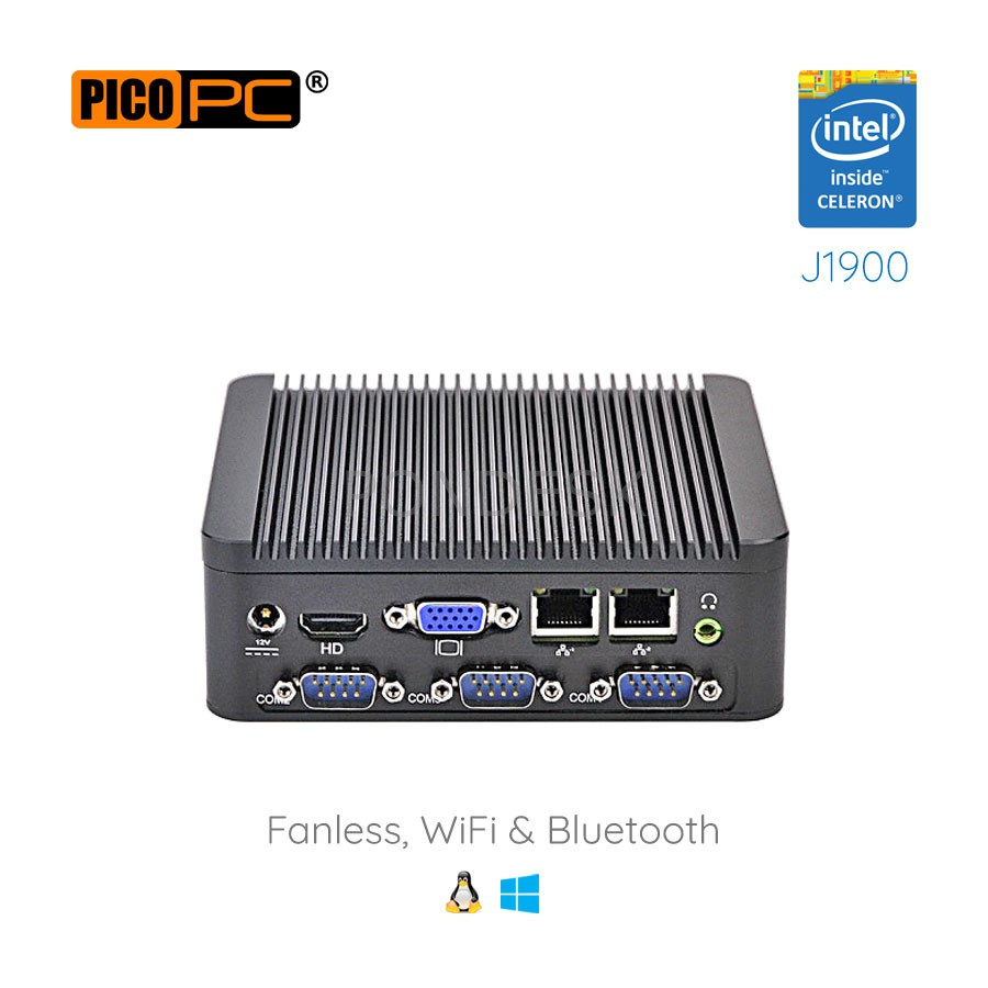 Intel® J1900 HD WiFi 4 COM 2 LAN Fanless Industrial Mini PC