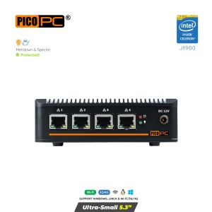 Intel J1900 4 LAN HD Dual Display 4G Fanless Firewall Router-MNHO-043