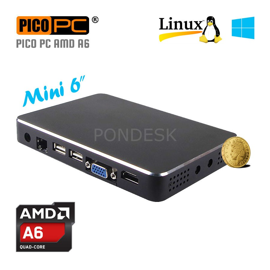 AMD A6 1450 Quad Core 8W Radeon™ HD 8250 Home/Office Mini PC