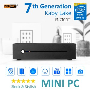 7th Gen. Intel® Core™ i3-7100T Kaby Lake 3.4GHz HD Mini PC-MNHO-053