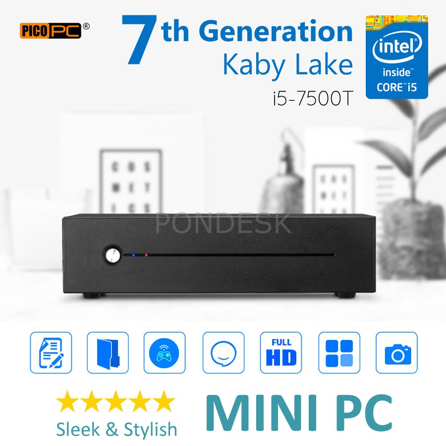 7th Gen. Intel® Core™ I5-7500T Kaby Lake 3.3GHz HD Mini PC