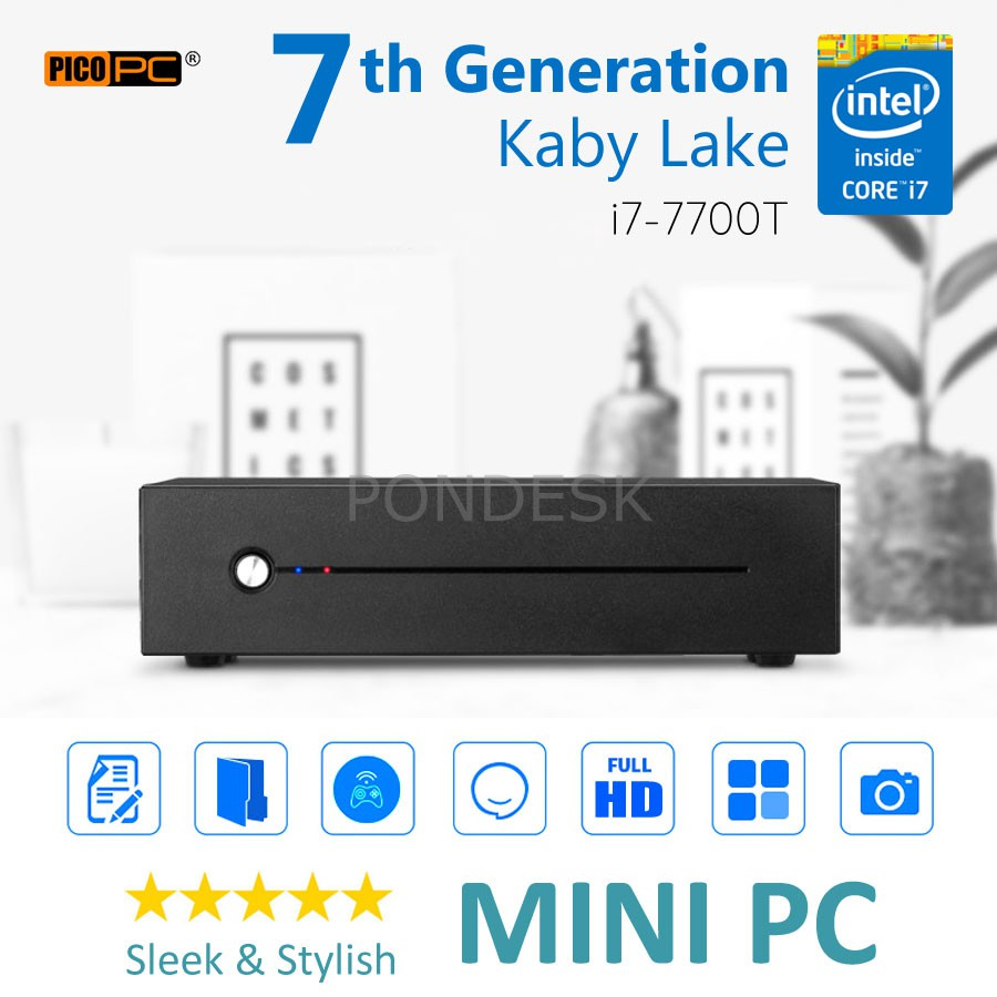7th Gen. Intel® Core™ i7-7700T Kaby Lake 3.8GHz HD Mini PC