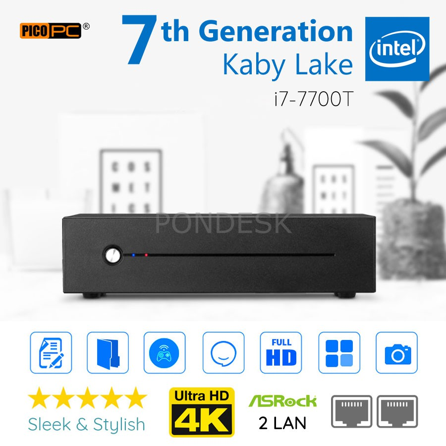 7th Gen Intel® I7-7700T Kaby Lake 3.8GHz 2 LAN HD Mini PC