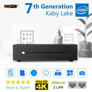 7th Gen Intel® Kaby Lake 2.9GHz 2 LAN HDMI 4K HD 610 Mini PC