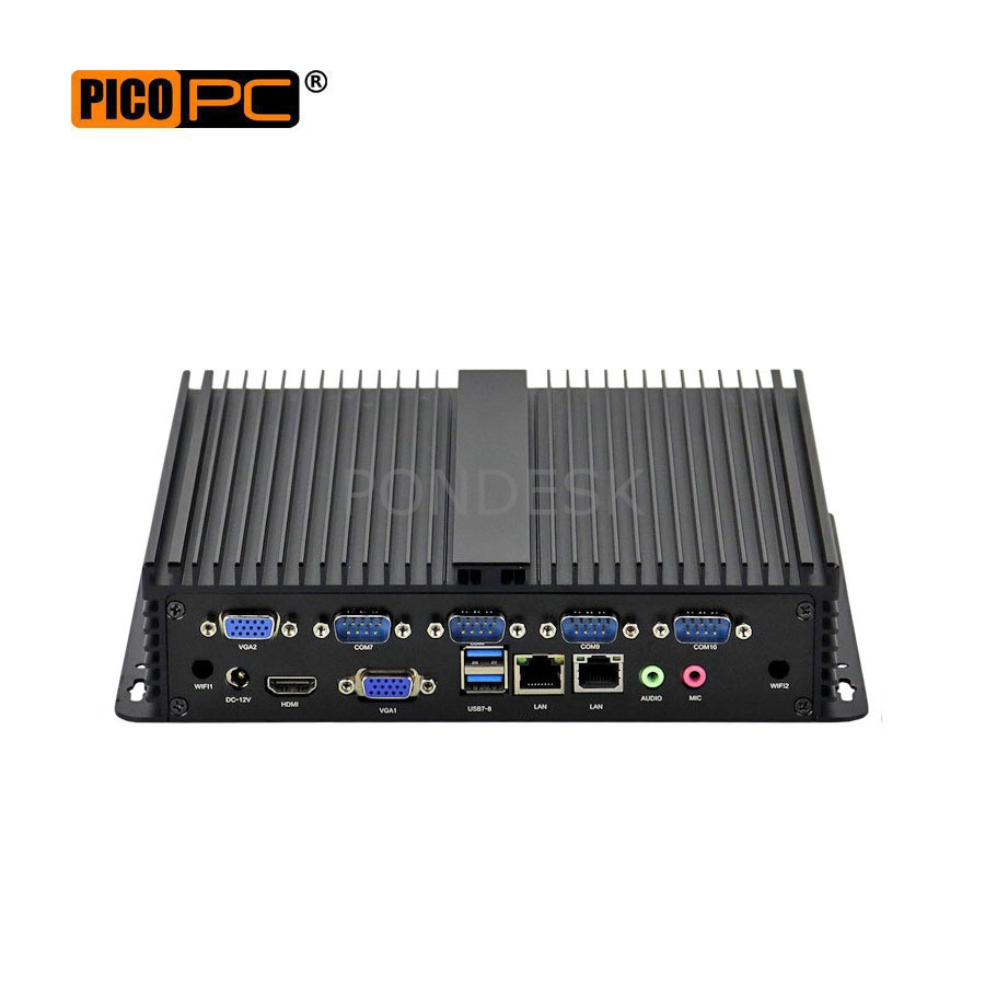 Intel Quad-Core 3 Display 10 COM 2 LAN Fanless Industrial PC