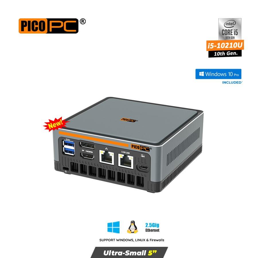 10th Gen. Intel® i5-10210U 2 LAN 2.5GbE 3 Display Mini PC With Windows 10 Pro.