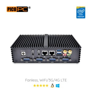 Intel® 3805U WiFi 4G 6 COM 2 LAN Fanless Industrial Mini PC-MNHO-067