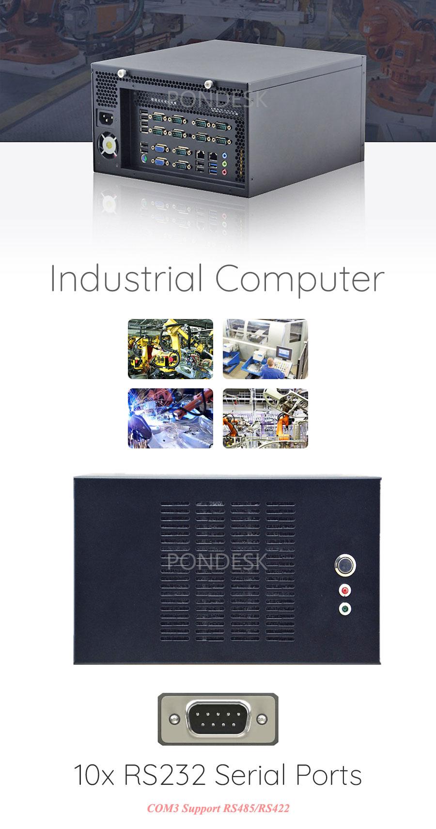 Intel® Haswell i3/i5/i7 HD 10 COM 2 LAN Industrial Computer - MNHO-071 | Image