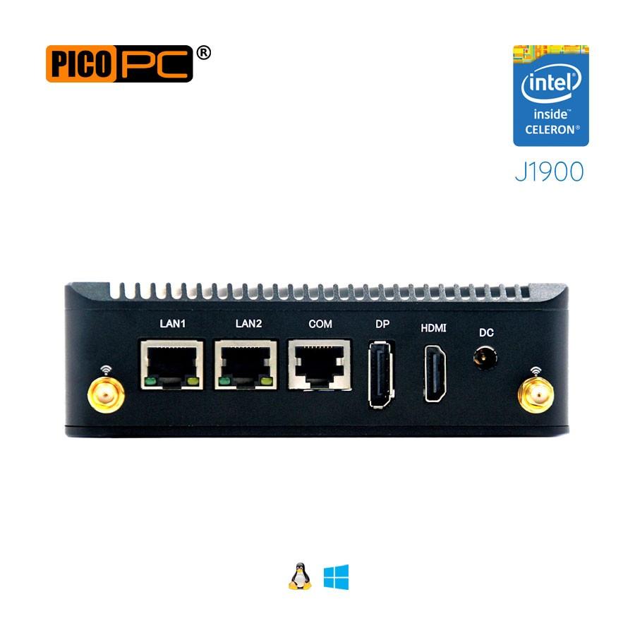 Intel® J1900 2 LAN 1 COM WiFi Dual Display Fanless Mini PC