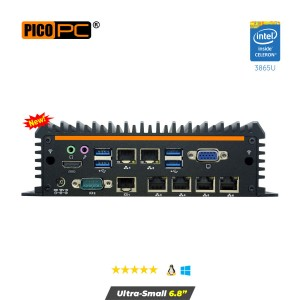 Intel® 3865U 6 LAN 4G Fanless Security Gateway Appliance-MNHO-083