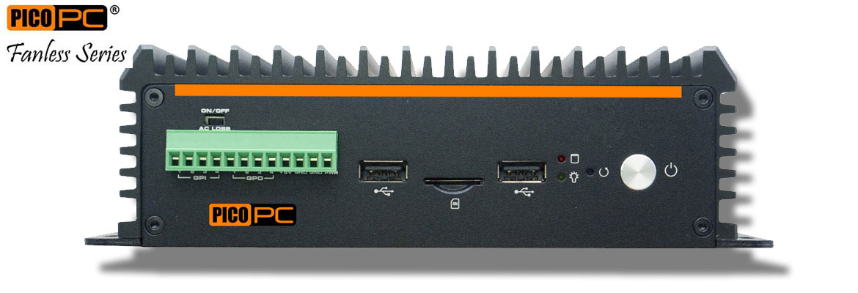 Intel® Core™ i7-8565U 6 LAN 2 COM GPIO Dual Display Fanless Mini Industrial PC   MNHO-084