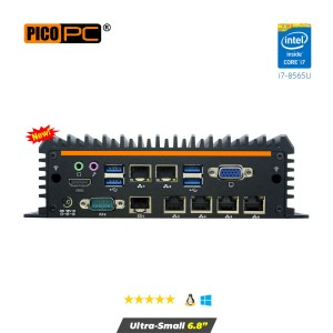 Intel® i7-8565U 6 LAN 4G Fanless Security Gateway Appliance-MNHO-084