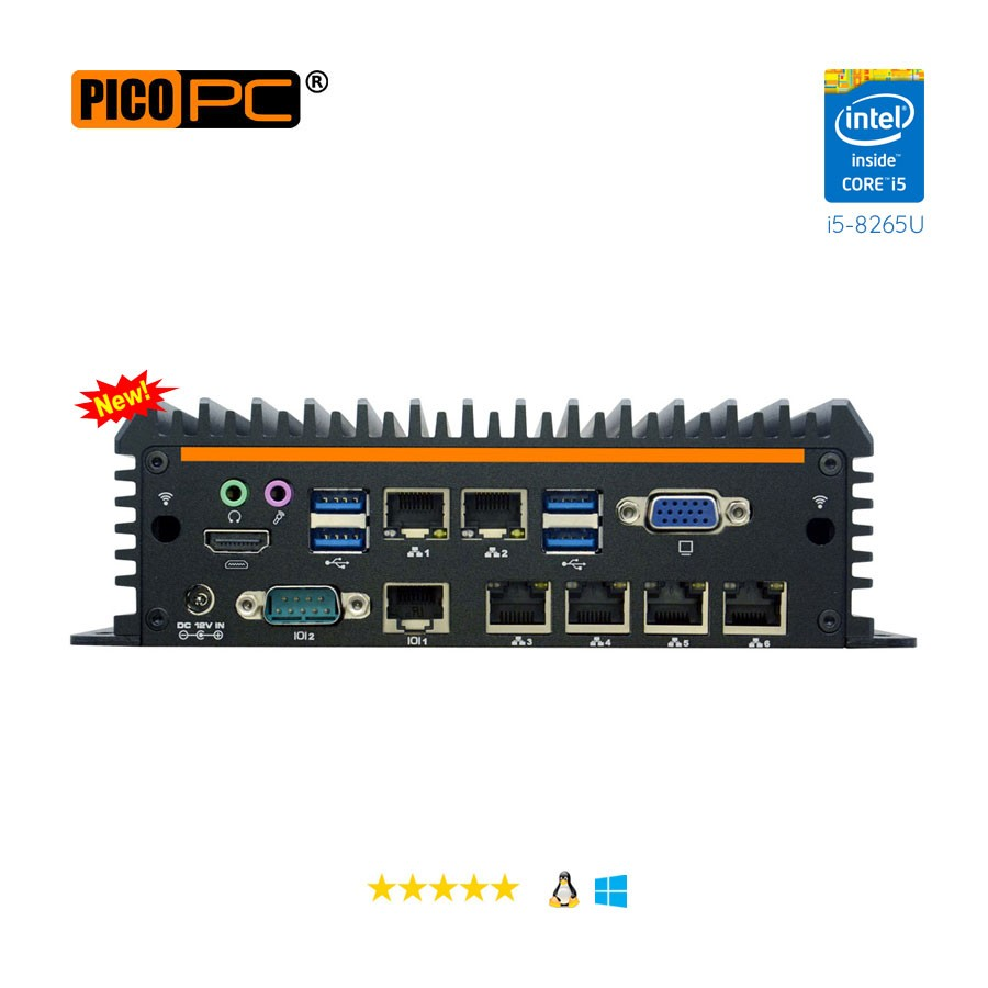 Intel® i5-8265U 6 LAN 4G Fanless Security Gateway Appliance