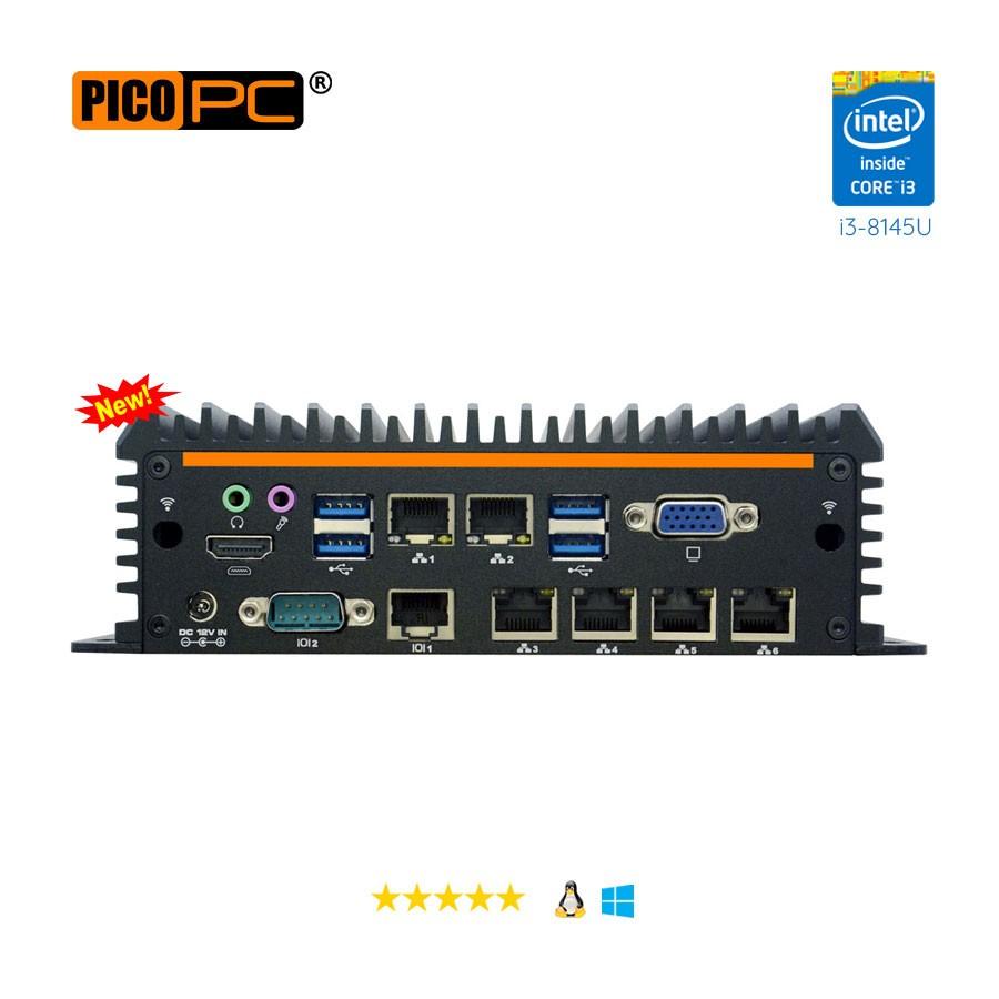 Intel® i3-8145U 6 LAN 4G Fanless Security Gateway Appliance