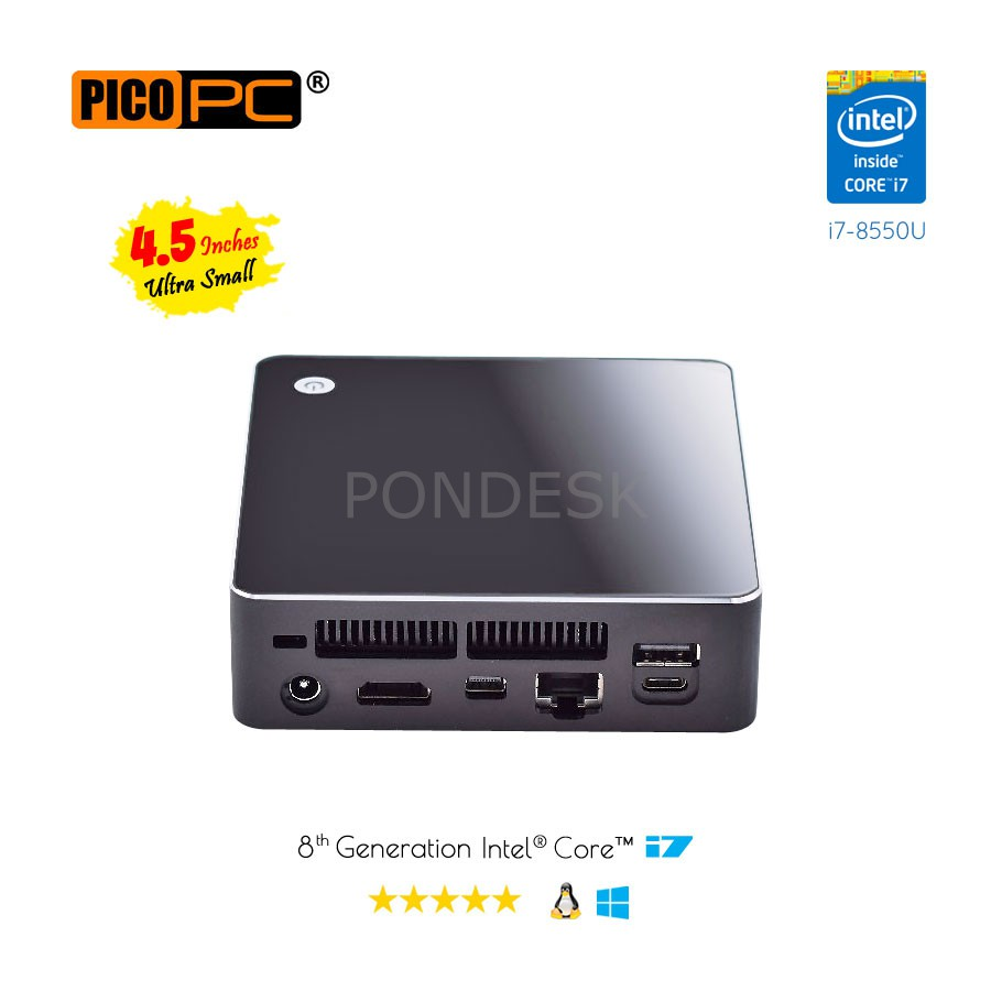 8th Gen Intel® Core™ i7-8550U 4 Core HD Dual Display Mini PC