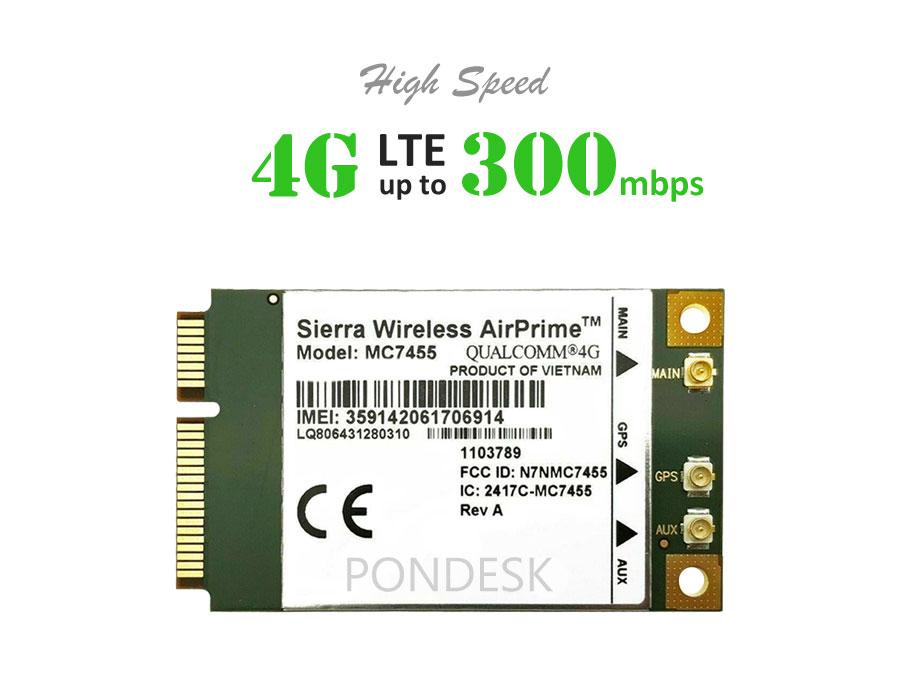 Sierra Wireless AirPrime MC7455 LTE Cat 6 4G LTE PCIe Module - NWEL-016 | Image