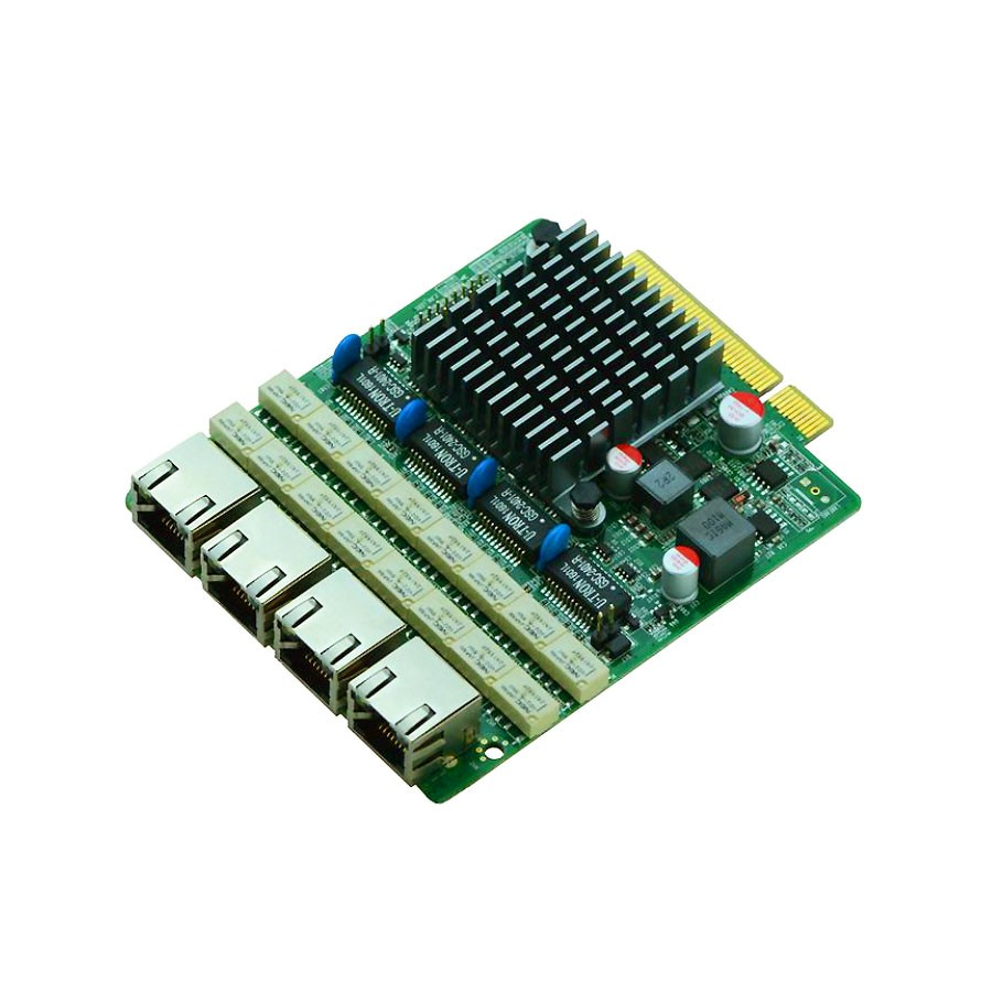 PCIe 8x Intel® 82580EB Gigabit 4 LAN Expansion Card