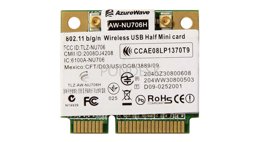 AW-NU706H RT3070L Wireless 802.11 b/g/n WiFi Mini PCIe Card - NWHO-005 | Image