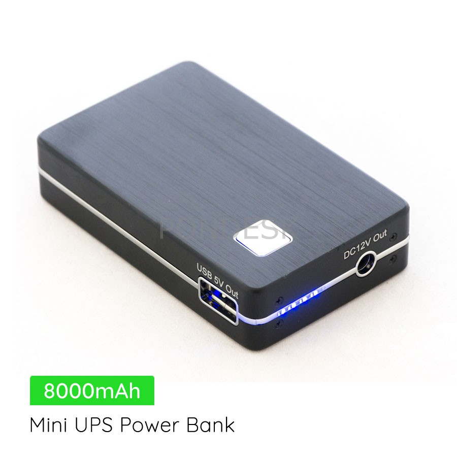 DC 12V 5V Compact Rechargeable 8000mAh Mini UPS Power Bank