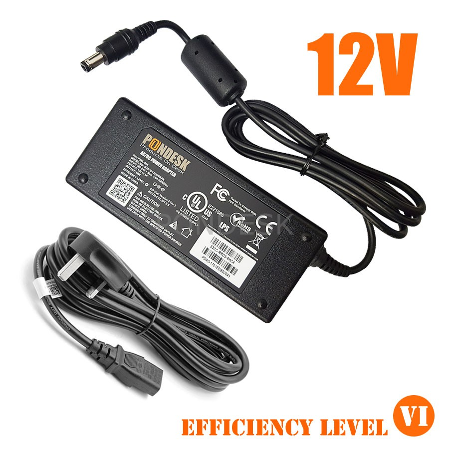 DOE Level VI 12V 5A 60W Switching Desktop AC Power Adapter