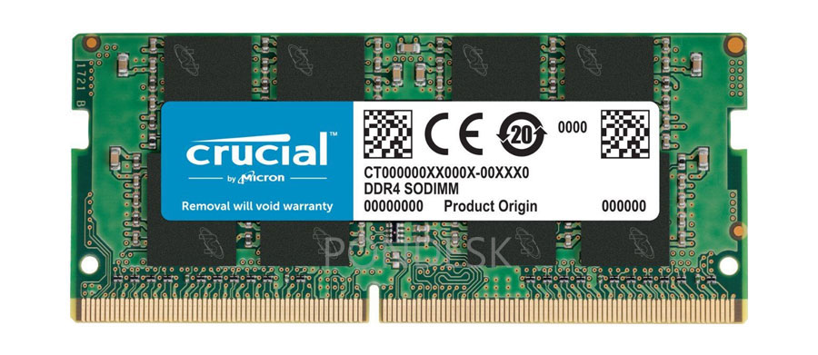 Crucial 16GB Single DDR4-2133MHz SODIMM Memory CT16G4SFD8213 - RMHO-014 | Image